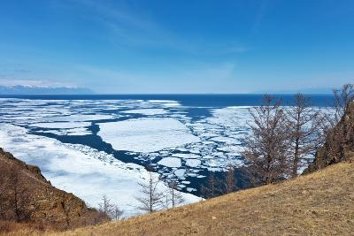 Lake Baikal in Spring. Top View of the Ice Drift-katvic-Photographic Print