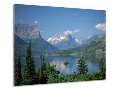 Lake Below Glaciated Peaks-Neil Rabinowitz-Metal Print