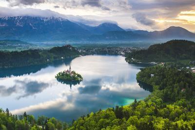 Lake Bled Island and the Julian Alps at Sunrise-Matthew Williams-Ellis-Photographic Print