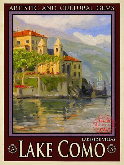 Lake Como Italy 2-Anna Siena-Giclee Print