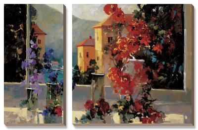 Lake Como View-Ted Goerschner-Canvas Art Set