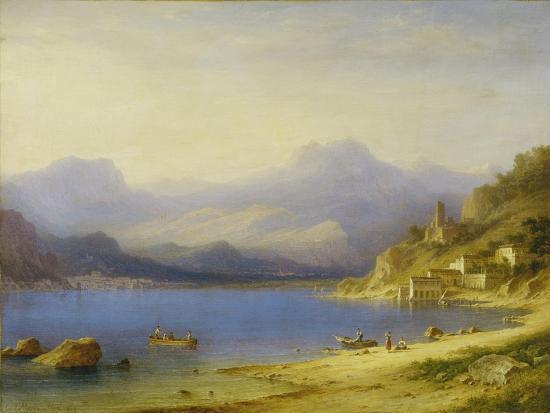 Lake Como with Boats, 1869-Carl Larsson-Giclee Print