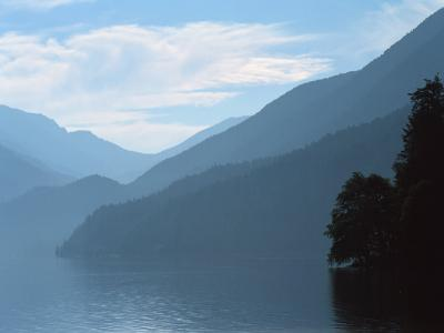 Lake Crescent in the Olympic Mountains, Washington, USA-Jerry Ginsberg-Photographic Print