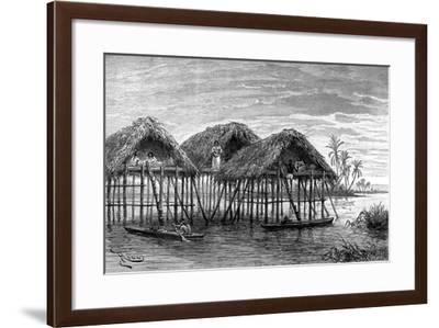 Lake Dwellings of Santa Rosa, Near Maracaibo, Venezuela, 1895--Framed Giclee Print