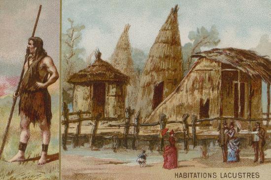 Lake Dwellings--Giclee Print