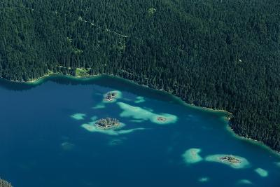 Lake Eibsee from Above-By-Photographic Print