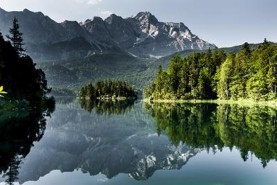Lake Eibsee with 'Zugspitze'--Photographic Print