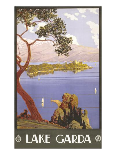 Lake Garda Travel Poster--Art Print