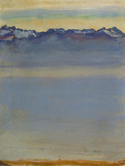 Lake Geneva with Savoyer Alps, 1907-Ferdinand Hodler-Premium Giclee Print