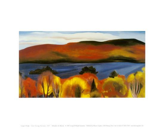 Lake George, Autumn, 1927-Georgia O'Keeffe-Art Print