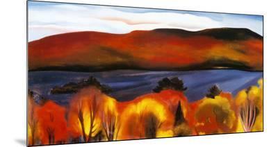 Lake George, Autumn, 1927-Georgia O'Keeffe-Mounted Print