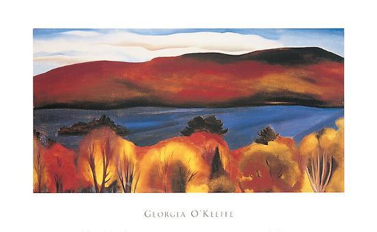 Lake George, Autumn, 1927-Georgia O'Keeffe-Art Print