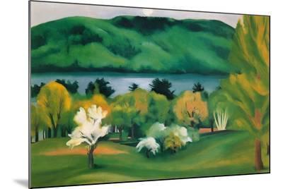 Lake George, Early Moonrise Spring, 1930-Georgia O'Keeffe-Mounted Print