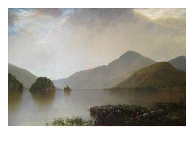 Lake George Landscape-John Frederick Kensett-Art Print