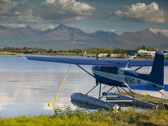 Lake Hood Air Harbor, Anchorage, Alaska Photographic Print by Walter