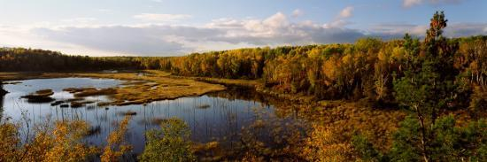Lake in Autumn, Wood Lake, Superior National Forest, Yellow Medicine County, Minnesota, USA--Photographic Print