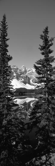 Lake in Front of Mountains, Banff, Alberta, Canada--Photographic Print