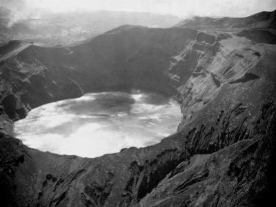 Lake in the Crater of the Volcano on Mount Soufriere in St. Vincent, 1968