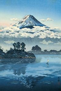 Lake Kawaguchi at the Foot of the Fuji by Eisho and Kikugawa Koitsu