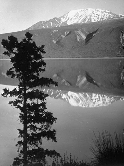 Lake Kluane with Snow-Capped Mountains Reflected in Lake-J^ R^ Eyerman-Photographic Print