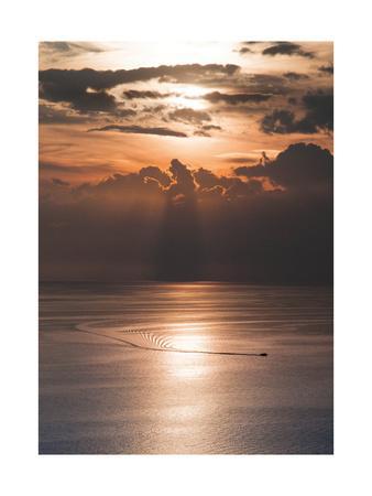Lake Leman II-Van Tsao-Framed Art Print