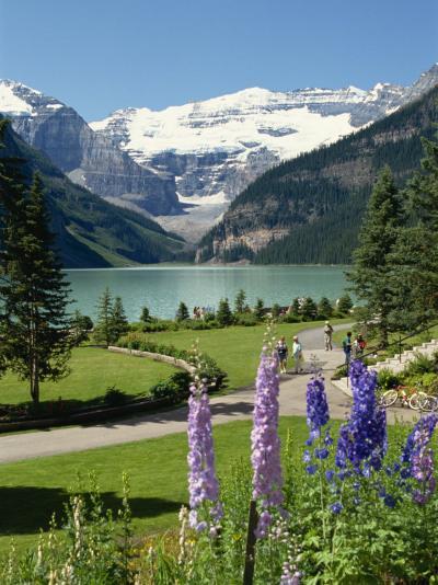 Lake Louise, Banff National Park, UNESCO World Heritage Site, Rocky Mountains, Alberta, Canada-Robert Harding-Photographic Print