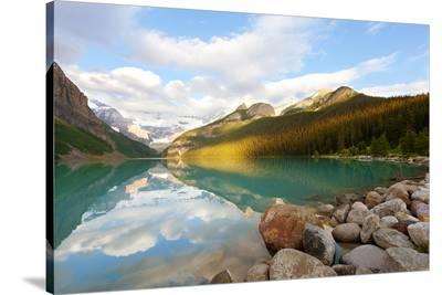 Lake Louise in Banff Natl.Park--Stretched Canvas Print
