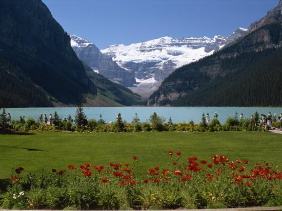 Lake Louise with the Rocky Mountains in the Background, in Alberta, Canada, North America-Robert Harding-Photographic Print