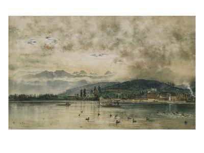 Lake Lucerne, Switzerland-Rudolf von Alt-Giclee Print