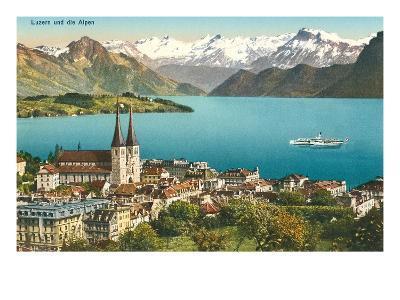 Lake Lucerne, Switzerland--Art Print