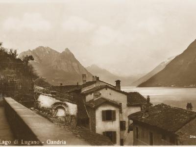 Lake Lugano, Switzerland - Village of Gandria--Photographic Print