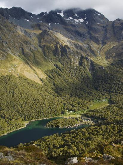Lake Mackenzie on the Routeburn Track, Fiordland National Park, South Island, New Zealand-Kober Christian-Photographic Print