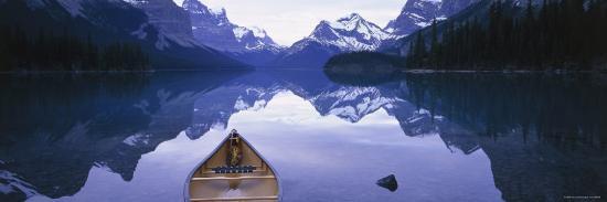 Lake Maligne, Jasper National Park, Alberta, Rockies, Canada-Peter Adams-Photographic Print