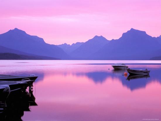 Lake McDonald at Dawn, Glacier National Park, Montana, USA--Photographic Print
