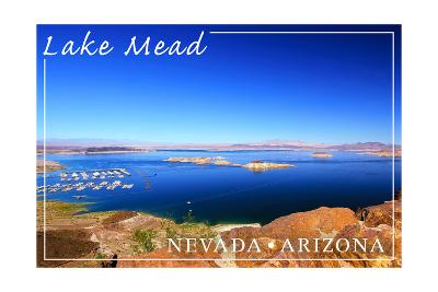 Lake Mead, Nevada - Arizona - Marina View-Lantern Press-Art Print