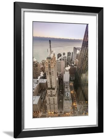 Lake Michigan and a Partial View of the John Hancock Tower in 2013-Richard Nowitz-Framed Photographic Print