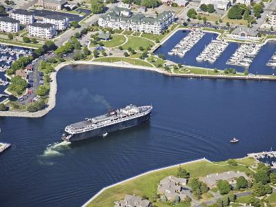 Lake Michigan Car Ferry in Ludington Harbor, USA-Jeffrey Wickett-Photographic Print