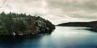Lake Minnewaska in Minnewaska State Park, Catskill Mountains, New York State, USA