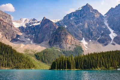 Lake Moraine, Near Lake Louise, Banff National Park, Canadian Rockies-Luis Leamus-Photographic Print