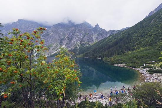 Lake Morskie Oko (Eye of the Sea), Zakopane, Carpathian Mountains, Poland, Europe-Christian Kober-Photographic Print