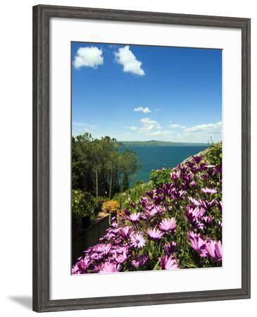 Lake of Bolsena, View from Capodimonte, Viterbo, Lazio, Italy, Europe-Tondini Nico-Framed Photographic Print