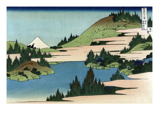 Lake of Hakone in Sagami Province-Katsushika Hokusai-Art Print