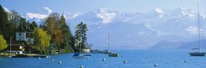 Lake on the Mountainside, Lake Thun, Hilterfingen, Canton of Bern, Switzerland