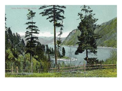 Lake Pend d'Oreille, Idaho, View of the Lake from a Fenced in Yard-Lantern Press-Art Print