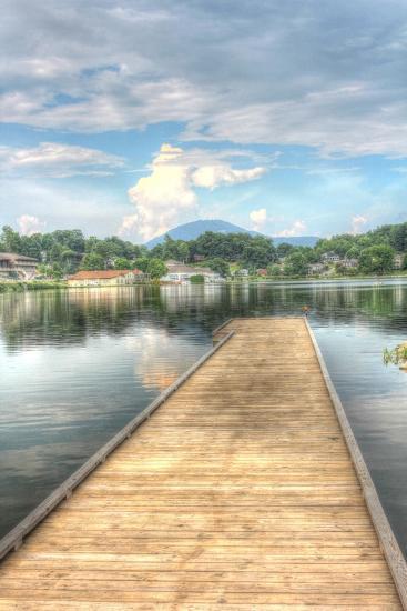 Lake Pier Vertical-Robert Goldwitz-Giclee Print