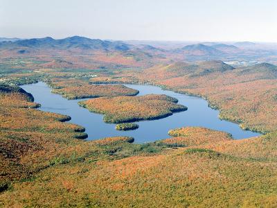 Lake Placid in Autumn, Adirondack, New York--Photographic Print