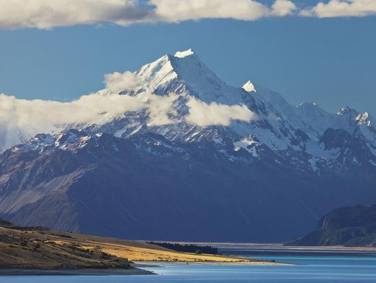 Lake Pukaki, Aoraki, Mount Cook National Park, Canterbury, South Island, New Zealand-Rainer Mirau-Photographic Print