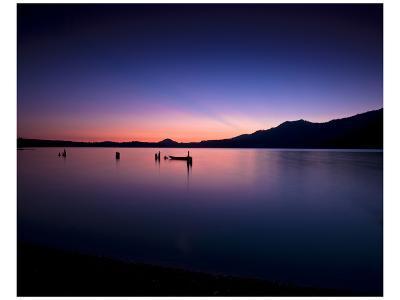 Lake Quinault Sunset-Richard Desmarais-Art Print