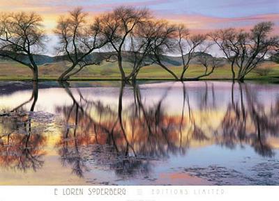 Lake Reflection-E. Loren Soderberg-Art Print