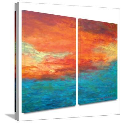 Lake Reflections II 2 piece gallery-wrapped canvas-Herb Dickinson-Gallery Wrapped Canvas Set